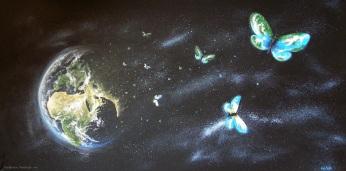 Goodbye Earth, acrylics on canvas, 2011