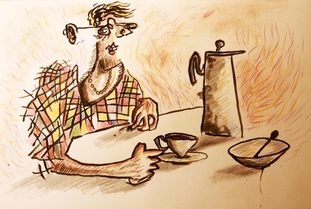 encounter with coffee drinker