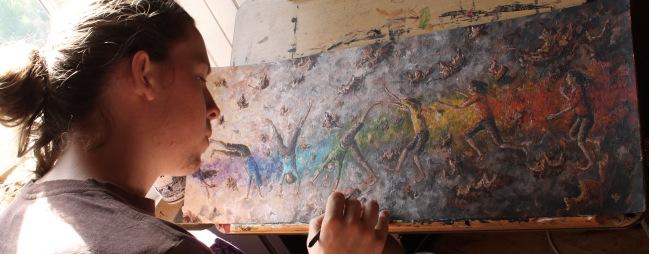 Painting 'Cartwheel Study'