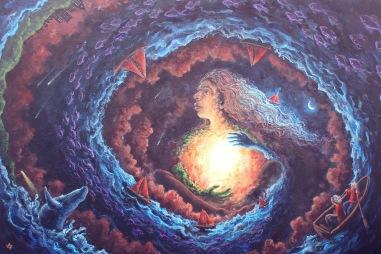 Haven, acrylics on canvas, 90 x 60cm