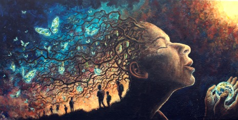 Transformation, acrylics on canvas, 100 x 50cm