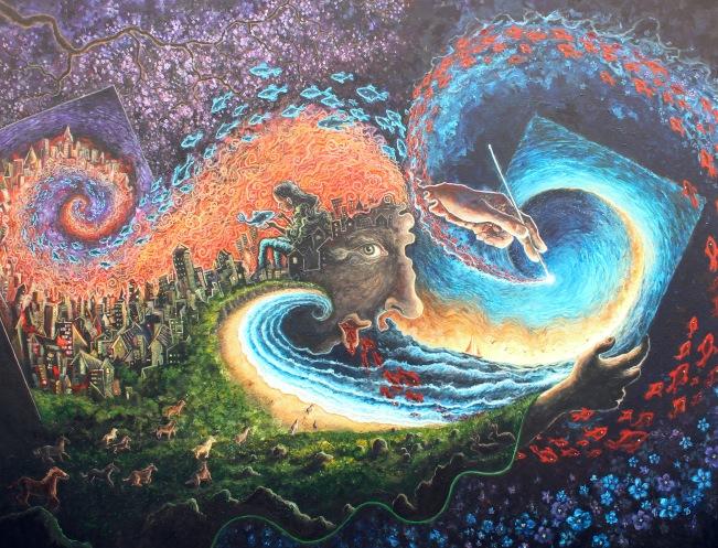 Losuc, acrylics on canvas, 152 x 122cm