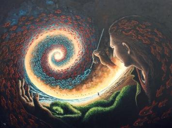 Solace, acrylics on canvas, 122 x 92cm
